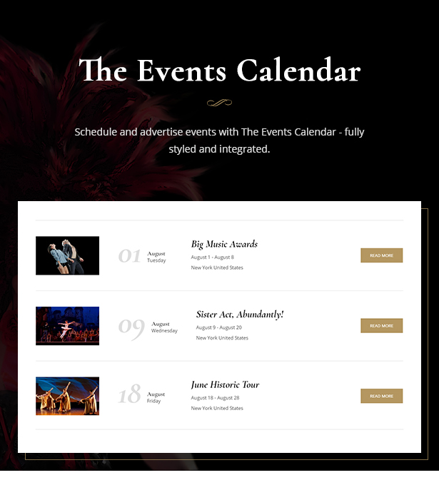 Theater - Concert & Art Event Entertainment Theme by cmsmasters ...