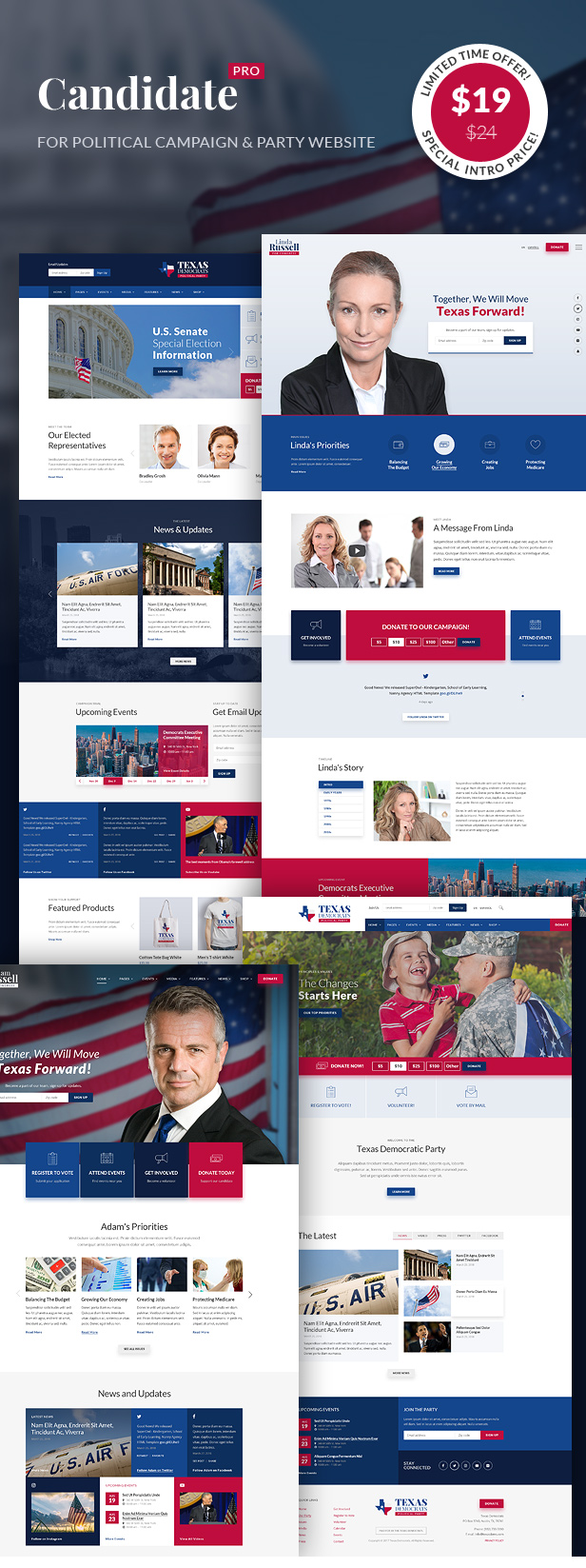 Inforward Political Campaign Party Nonprofit Html Template By