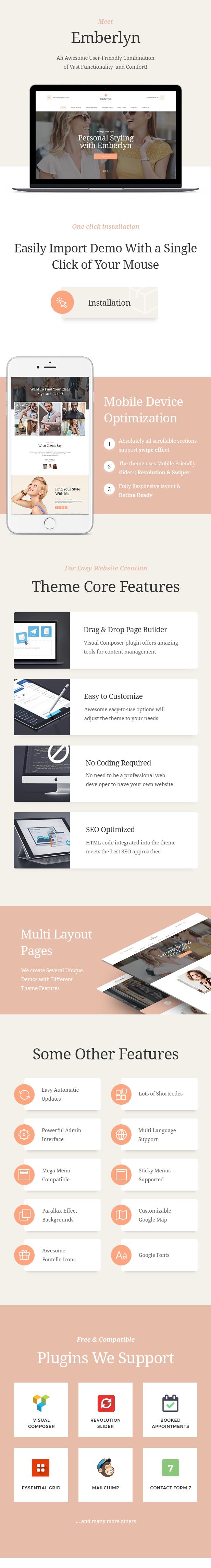 Emberlyn | Personal Stylist WordPress Theme - 1