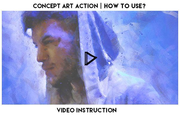 Concept Art Photoshop Action - 1