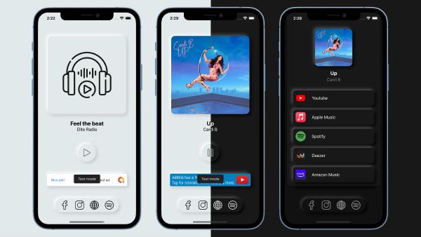 Elite Radio - Modern Neumorphism UI Radio App for iOS - 2