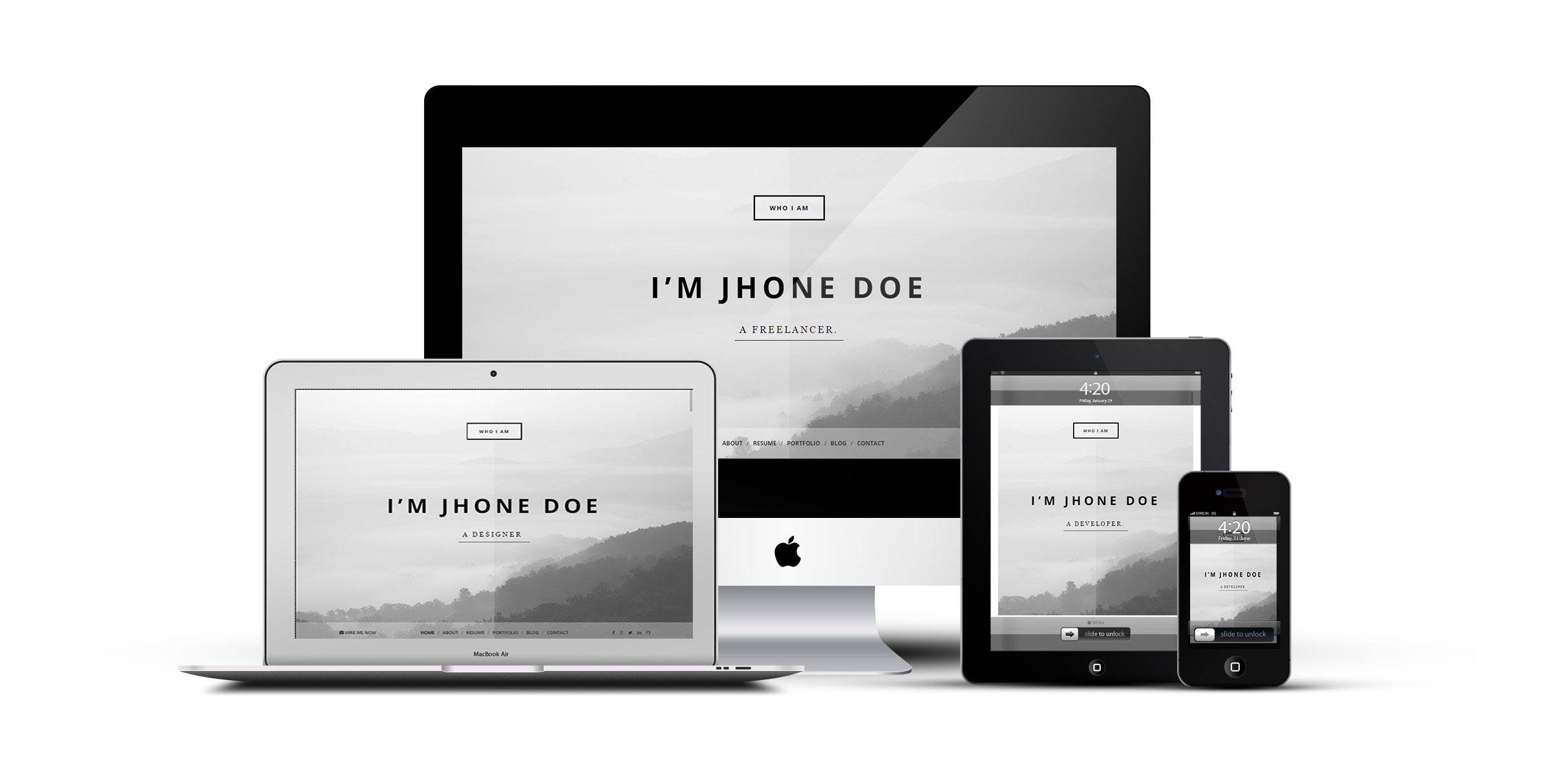 Who I Am Personal Resume And Portfolio Theme By Klbtheme