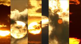Tropical Sun Behind Cloud Close Up - 1