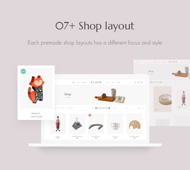 Handmade shop WooCommerce WordPress Theme - Shop Layouts