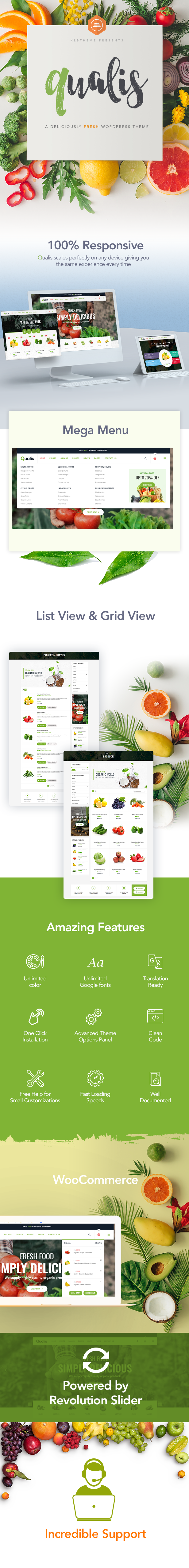 Qualis - Organic Food Responsive eCommerce WordPress Theme - 3