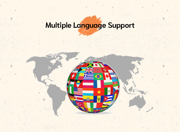 Givelove Non Profit Charity & Crowdfunding WordPress Theme supports multiple languages