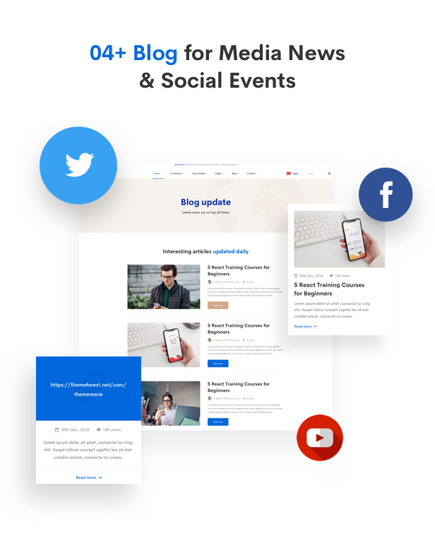 IT Solutions Mitech - Technology, IT Solutions & Service WordPress Theme - Blog Layouts