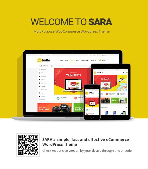 Sara - WooCommerce WordPress Market Theme - 1