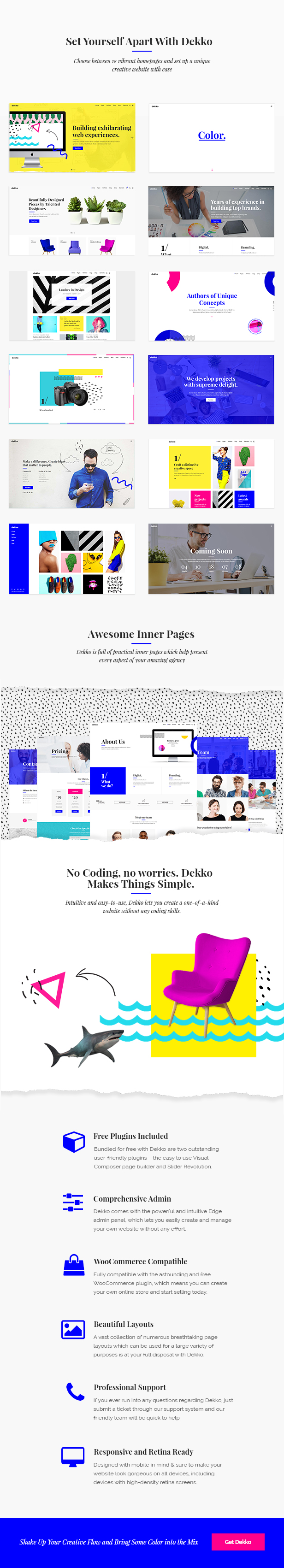 Dekko - A Vibrant Theme for Agencies and Freelancers - 1