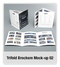 Bifold Brochure Mock-up 02 - 1