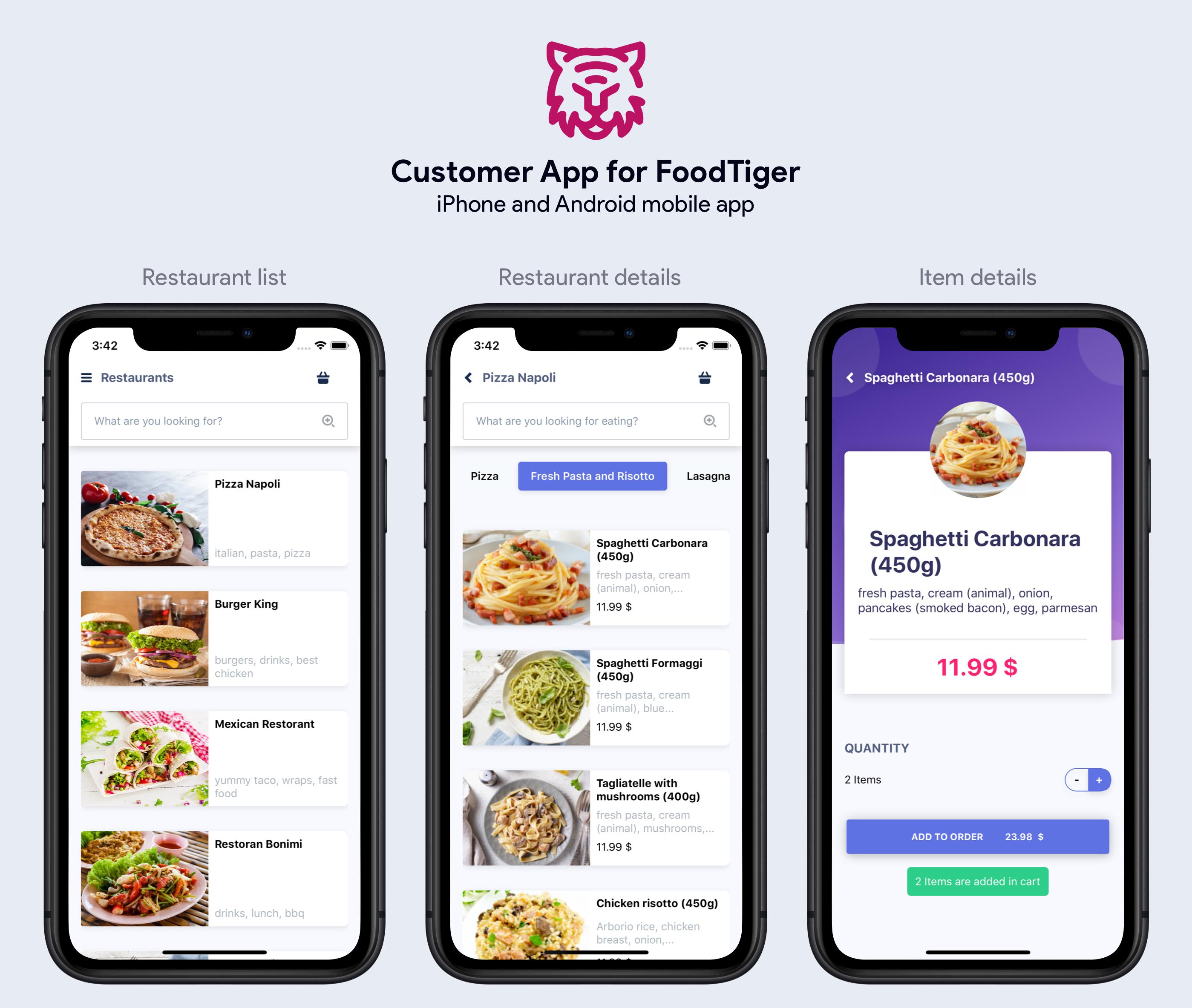 FoodTiger - Food delivery - Multiple Restaurants - 12