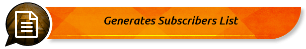 Generates Subscribers List