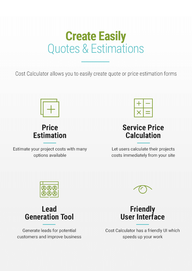 Cost Calculator v2.0.0 - WordPress Plugin 4