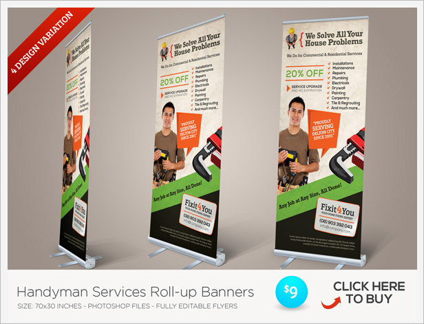 Handyman Services Flyers By Kinzi  Graphicriver