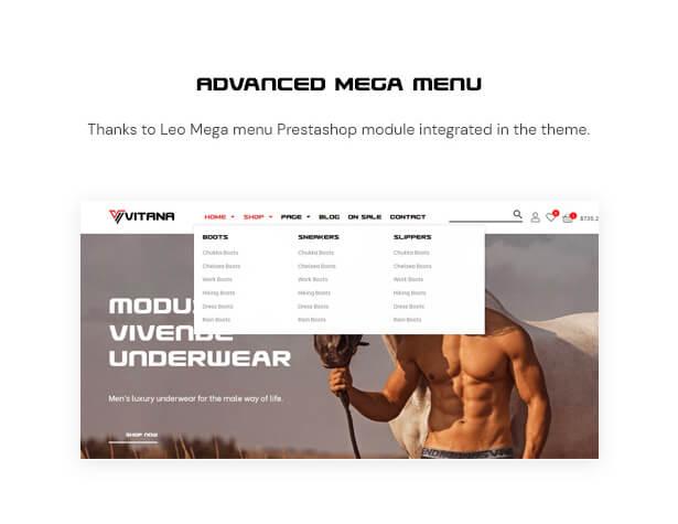 Advanced Mega menu