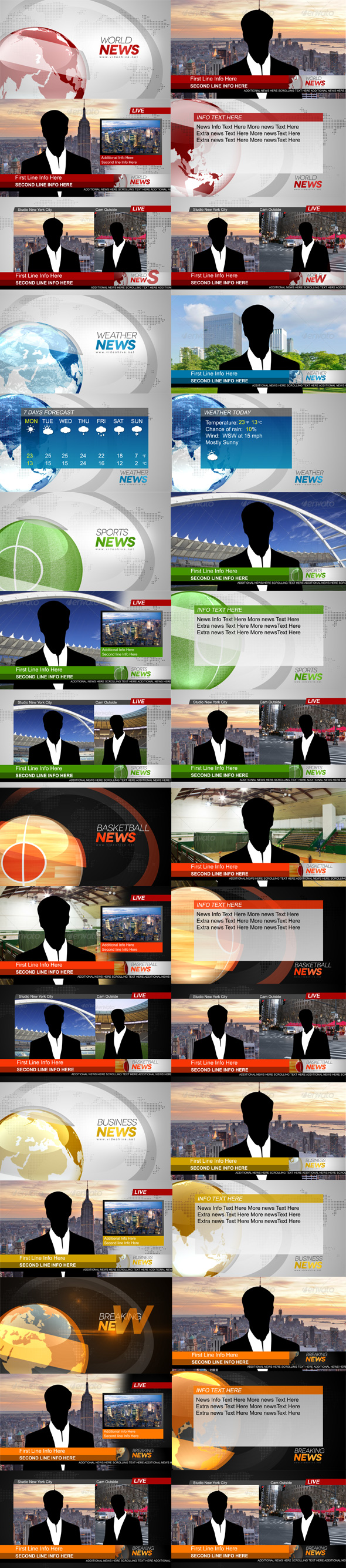 PR预设:电视广播新闻片头栏目包装动画 Broadcast News插图1