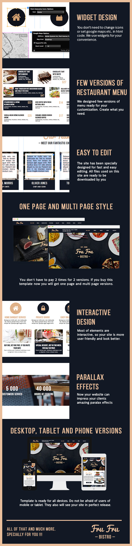Fru Fru - Multi&One Page Restaurant Muse Theme - 3