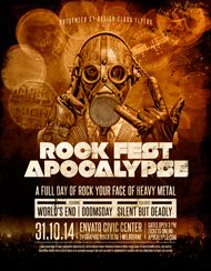 Design Cloud: Rock Fest Apocalypse Flyer Template