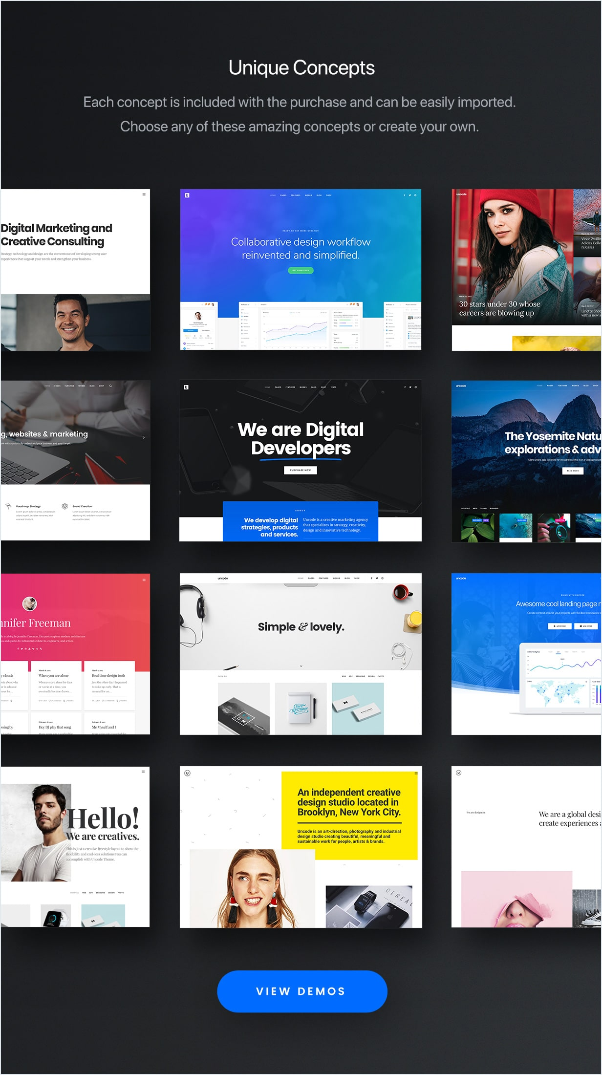 Uncode - Creative Multiuse WordPress Theme by undsgn