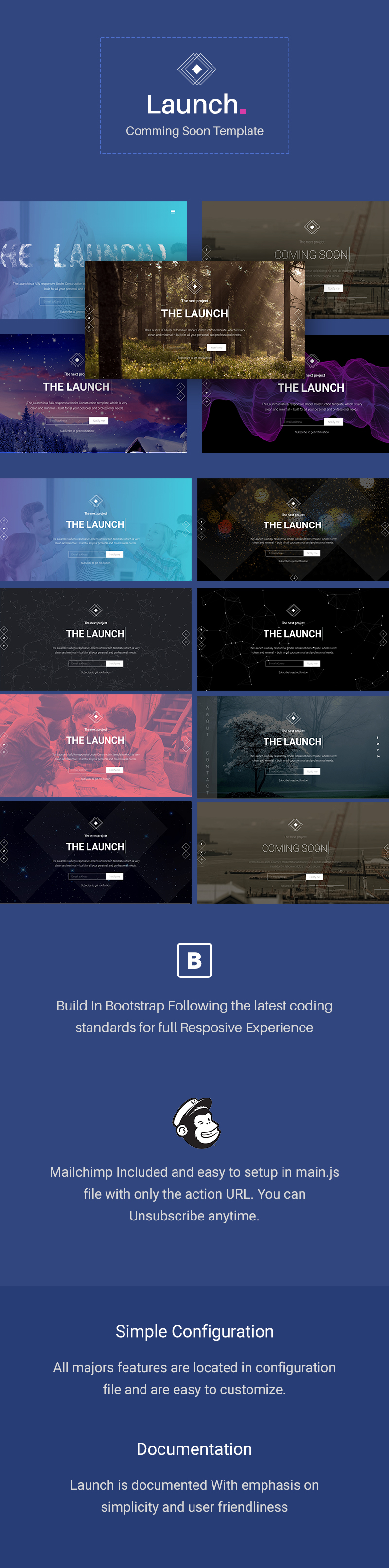 Launch - Coming Soon / Under Construction Template - 1