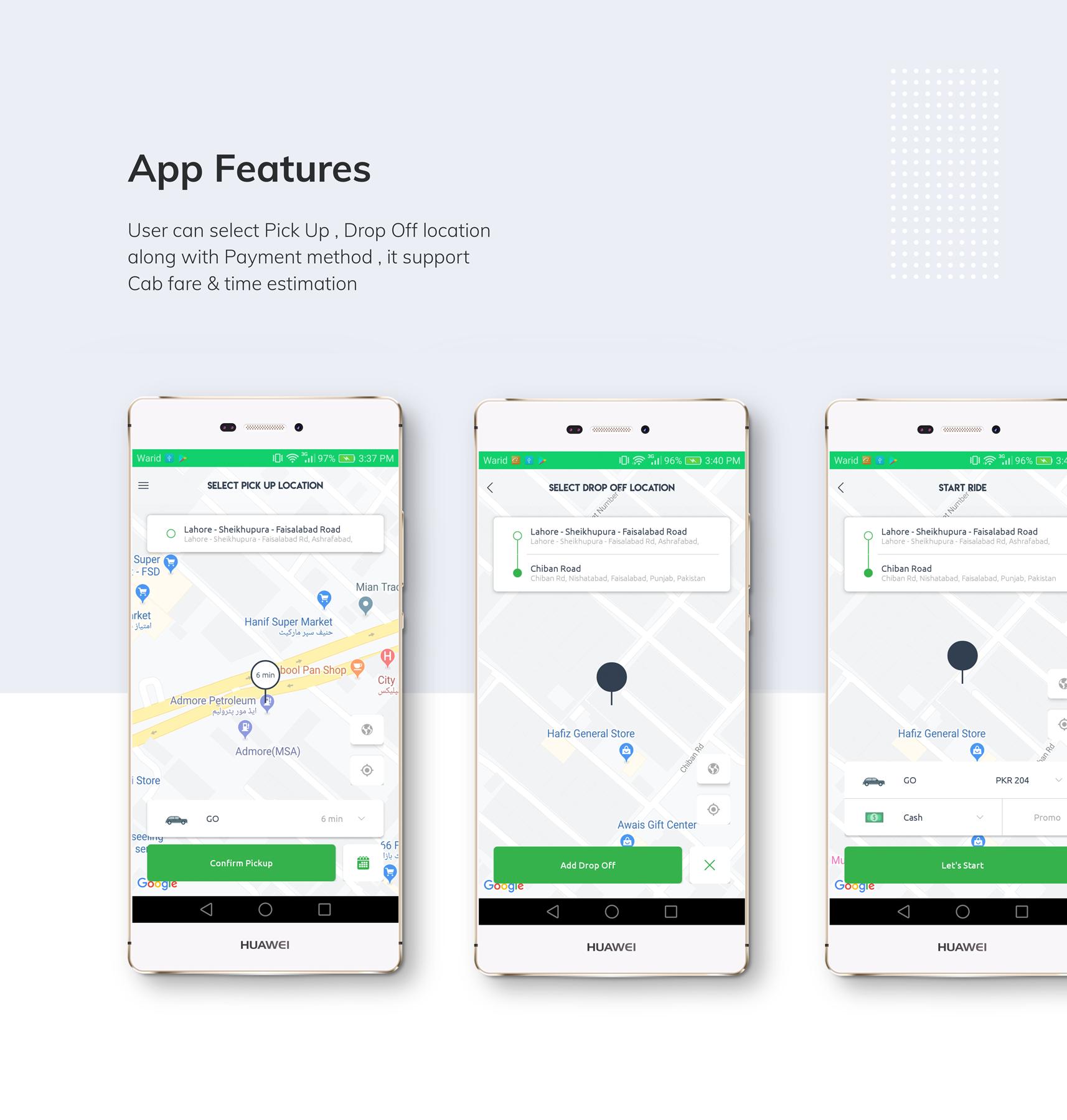 Kareem Taxi App - Cab Booking Solution + admin panel - 3