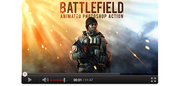 Photoshop Tutorial - The Battlefield 1 Effect - Animated Cover