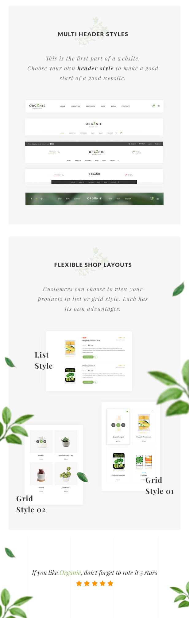 Organie - An Organic Store, Farm, Cake and Flower Shop Magento 2 and 1 Theme - 11