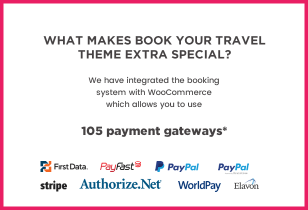 Book Your Travel Payment gateways