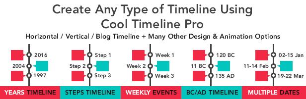 Cool Timeline Pro - WordPress Timeline Plugin - 1