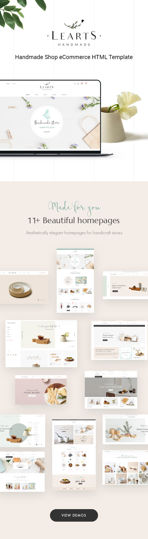 Learts – The Best Handmade Shop eCommerce HTML Template