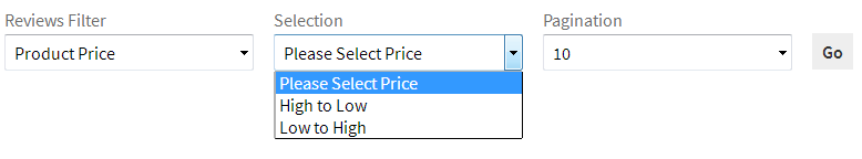 Show all review selection price