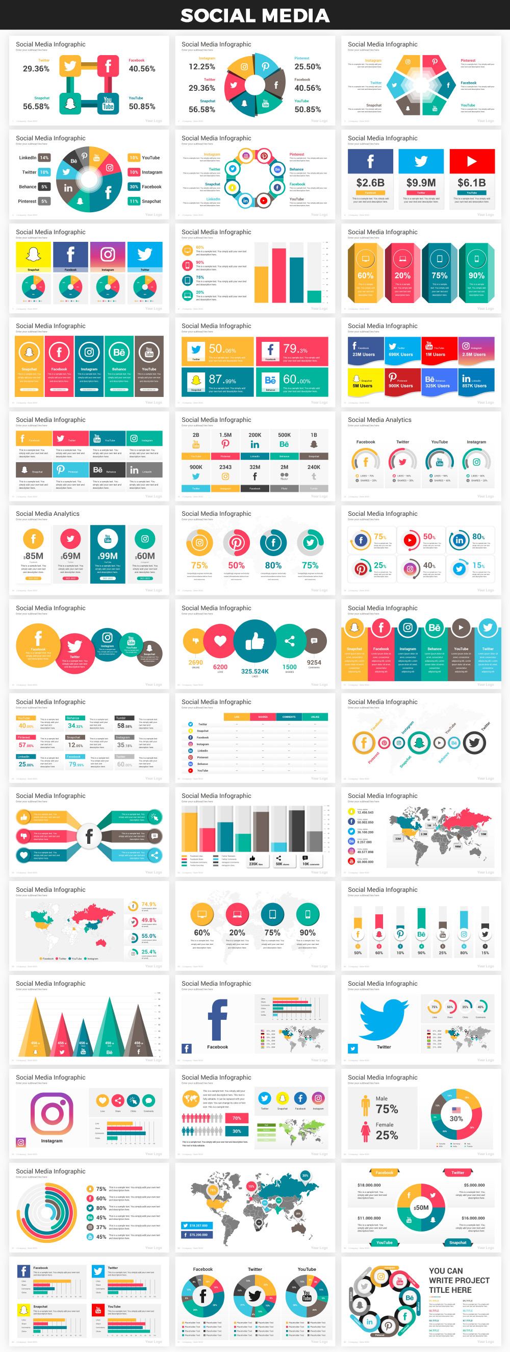 Infographics PowerPoint Bundle - 30