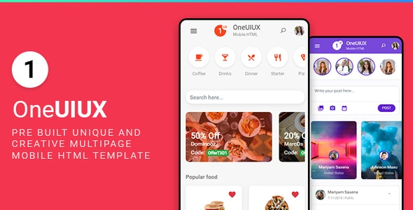 Oneuiux| Mobile First Responsive HTML Template