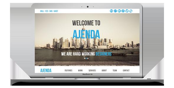 Ajenda - Multi-purpose One Page Muse Template - 3