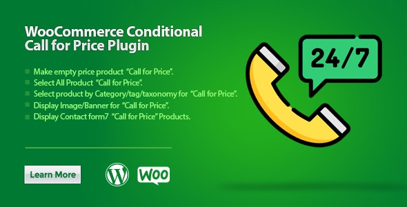WooCommerce Conditional Call for Price
