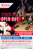 Gym Open Day promotion Flyer Template
