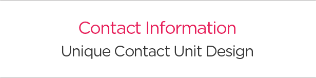 Contact Information. Unique Contact Unit Design