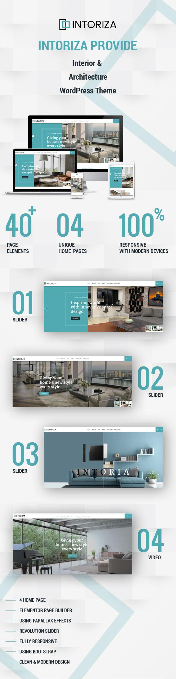 Intoriza - Interior Architecture WordPress Theme - 4