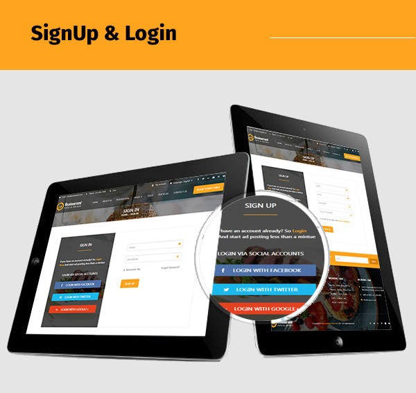 restaurant-food-and-drink-template social login