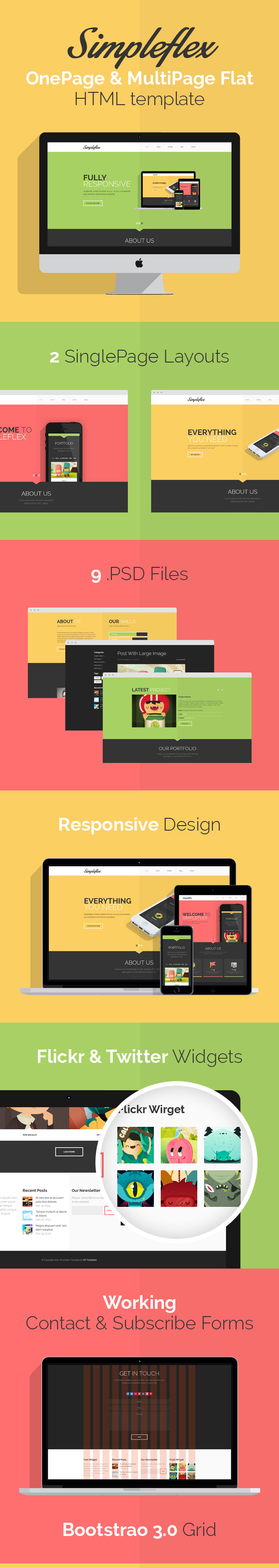 Simpleflex - HTML Bootstrap Web Template