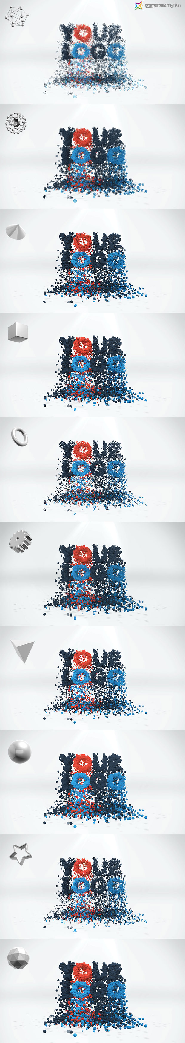 3D Particles Logo Build & Break - 1