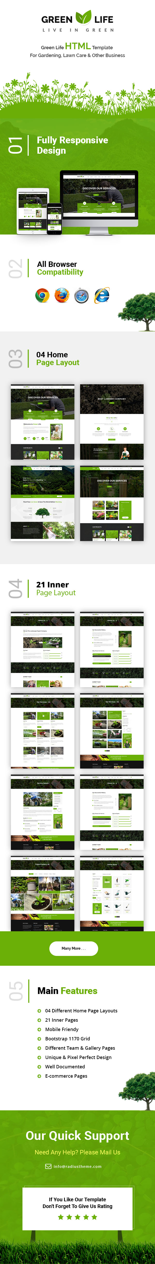 greenlife gardening and landscaping html5 template by radiustheme