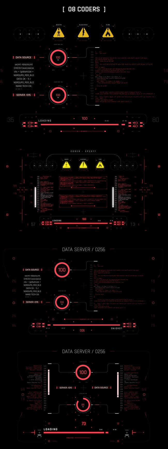 AE脚本-500个HUD高科技赛博朋克UI科幻界面元素动画预设包 Cyberpunk HUD UI 500+ 已修复中文版AE表达式报错插图32
