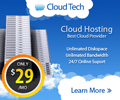 Hosting Cloud Banner ad Design