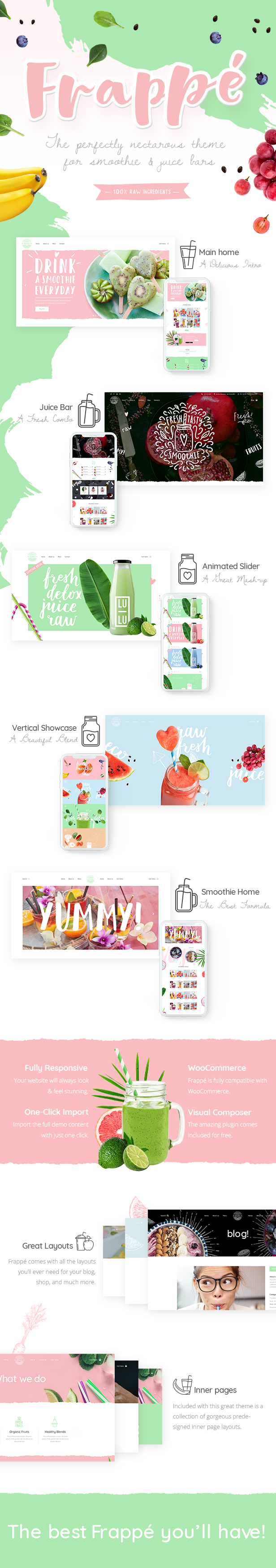 Frappé - A Smoothie and Organic Juice Bar Theme