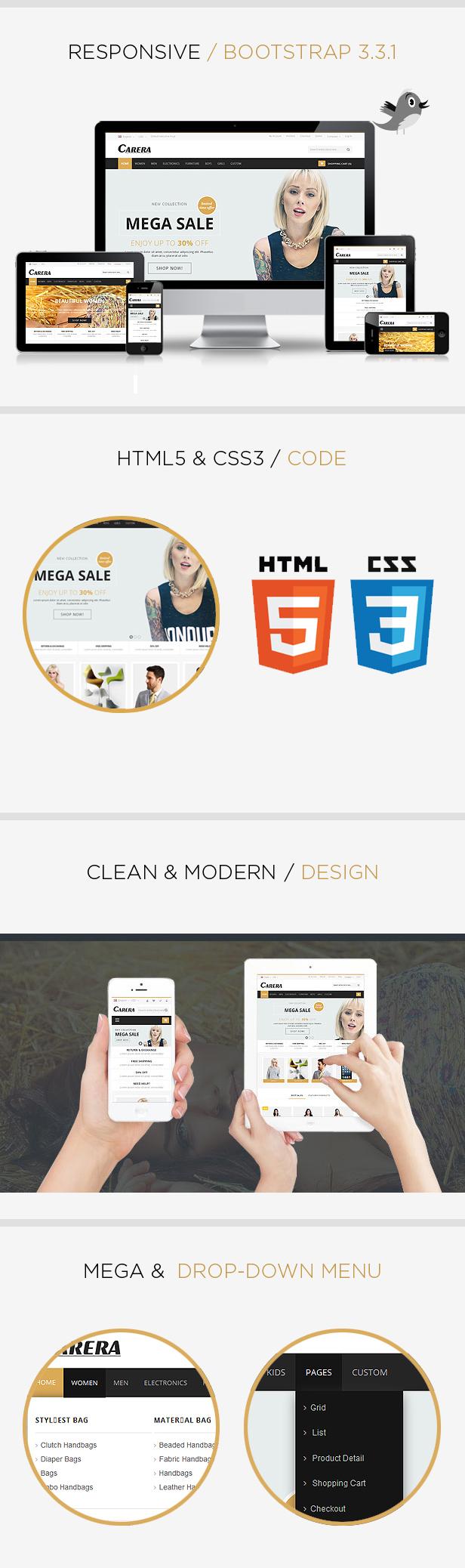 carera responsive html template