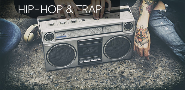 Hip-hop and trap beats collection