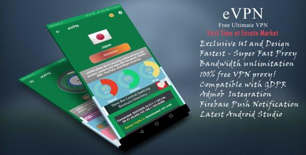 eVPN - Free Ultimate VPN | Android VPN, Billing, Phone Booster, Admob / Push Notification - 7