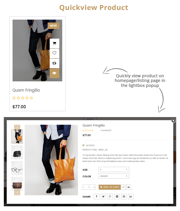 Styleshop - Quick view