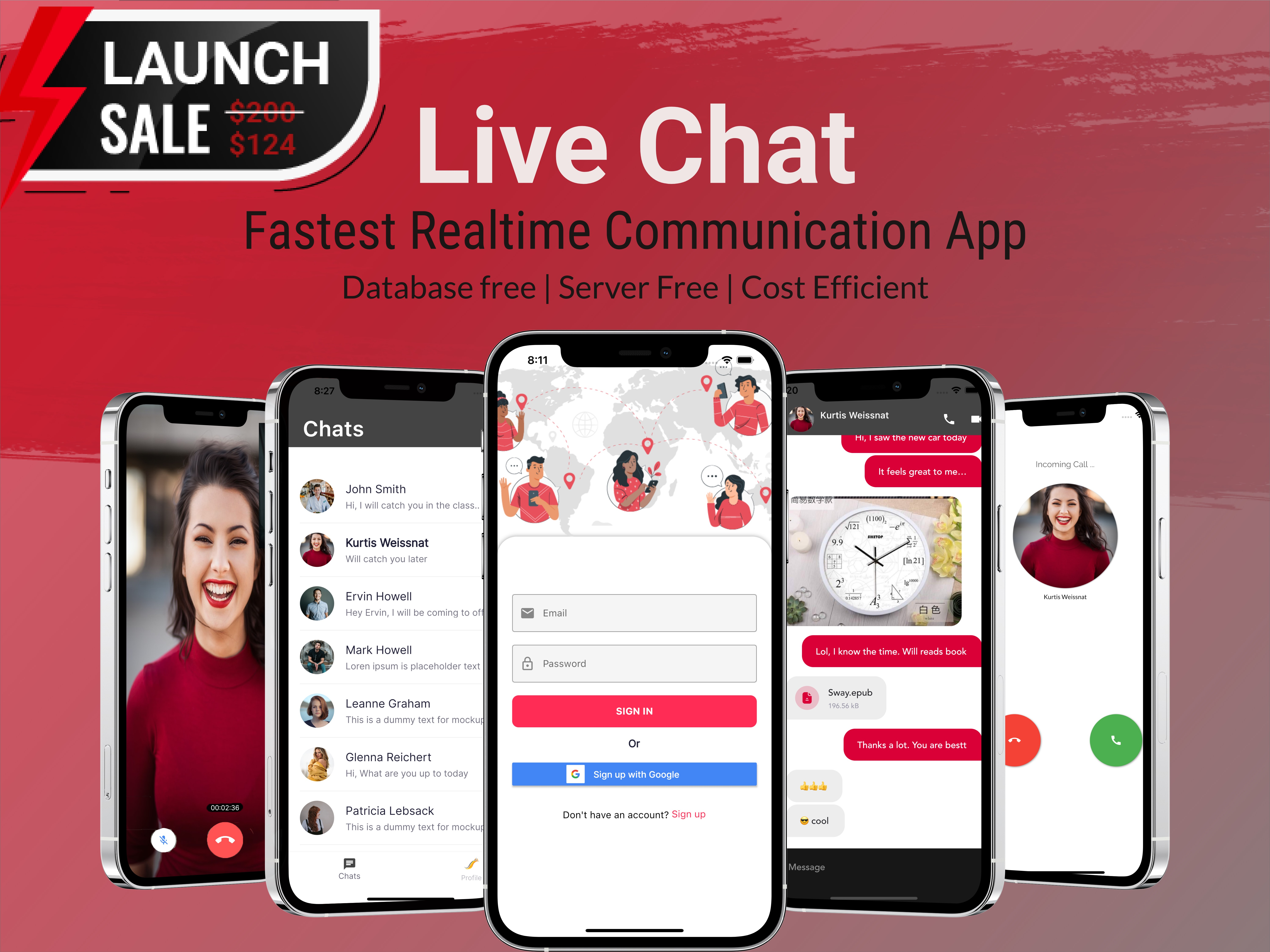 LiveChat - Flutter RealTime Chat App with No Database | Video & Voice Calling | Android & iOS - 1